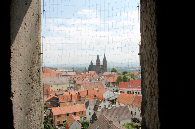 View of Fritzlar, the cathedral in the distance.