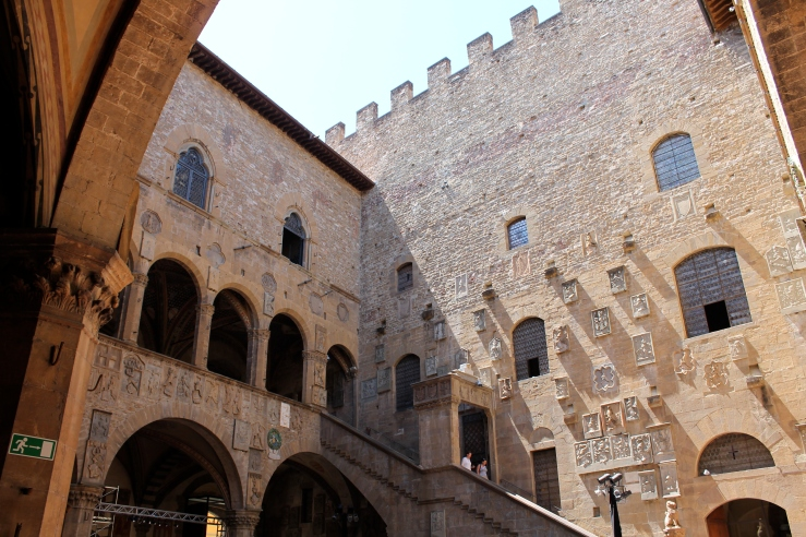 Courtyard of the Bargello Museum, formerly a prison.