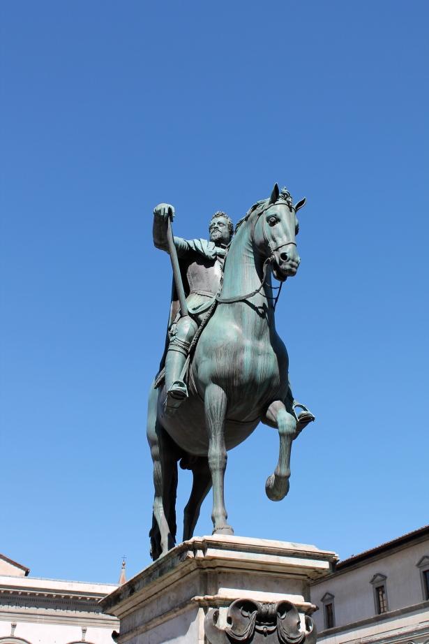 Cosimo on a horse.