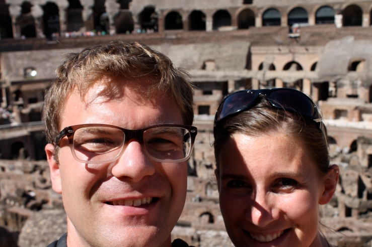 Peter and I at the Colosseum