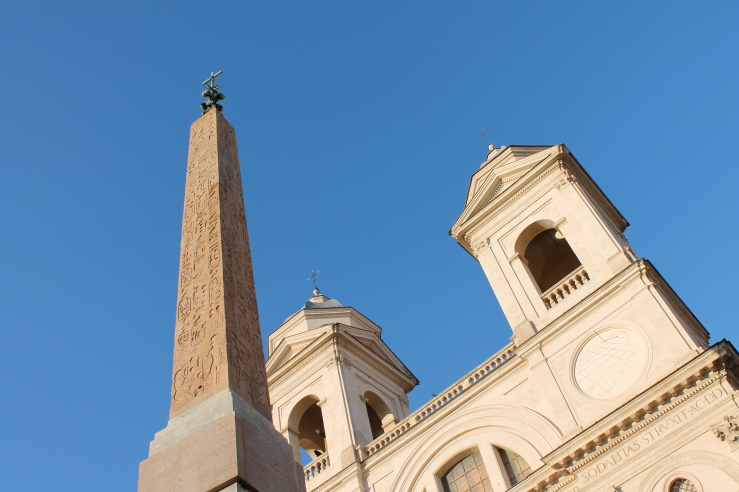 Scattered through Rome are these Egyptian obelisks. Sometimes, paradoxically, topped with crosses.