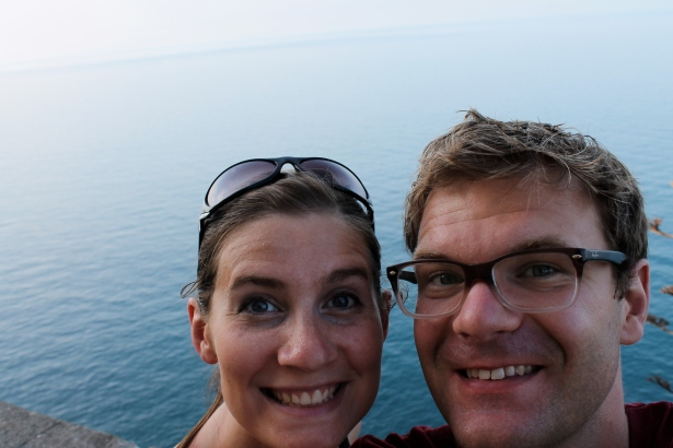 Peter and I in Corniglia