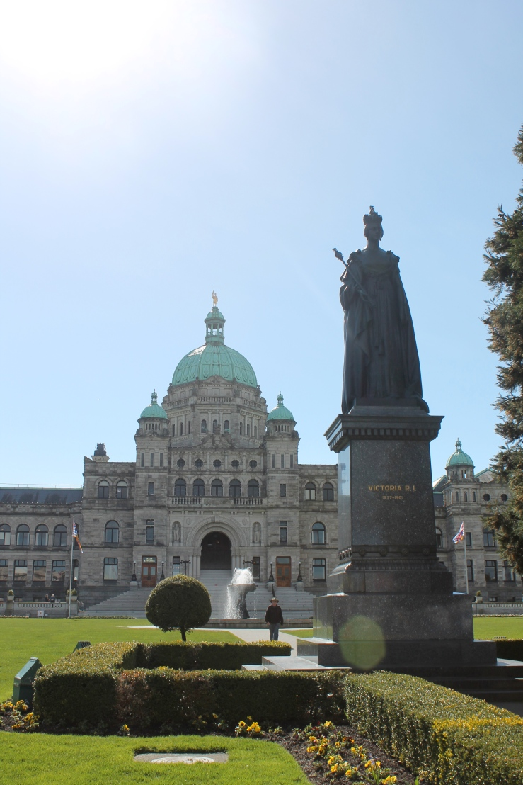 The Legislative Buildings and Queen Victoria
