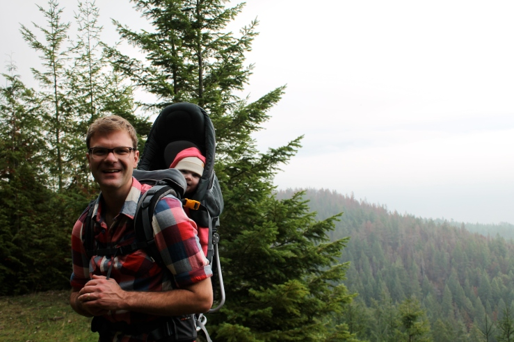 Peter and Pearl on a family hike last weekend.