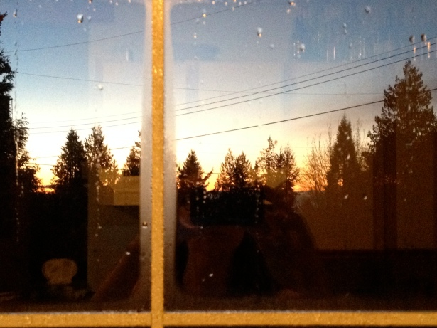 Sunrise from the kitchen window.